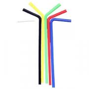 Трубочки цветные 25см 100шт.со сгибом