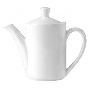 Кофейник «Монако Вайт»; фарфор; 850мл; белый