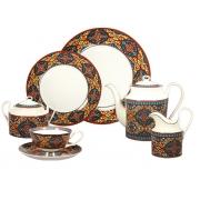 Сервиз чайно-обеденный, 6 перс, 27 пр, Восточные сказки, синий