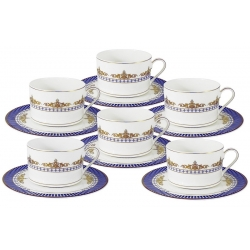 Чайный набор Флагман : 6 чашек + 6 блюдец