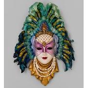 Венецианская маска ''Перо павлина''
