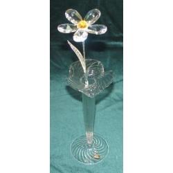 Хрустальный цветок на металлическом стержне (желтый)31 см