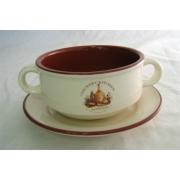 Суповая чашка на блюдце «Сардиния»