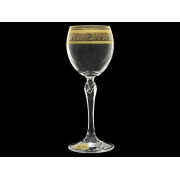 Бокал для вина Люция, Орнамент золотой (набор 6 шт.)