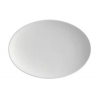 Тарелка овальная Икра (белая) без индивидуальной упаковки.