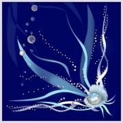 Жемчужина моря, 30х30 см, 375 кристалла