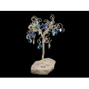 Сувенир в форме дерева, 27 подвесок, высота 15 см.