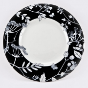 Набор 6 тарелок подстановочных 26см «Неверланд чёрный»