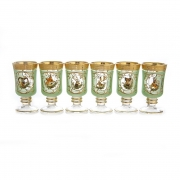 Набор для чая на 6 перс. «Охота зеленая»
