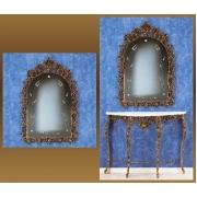 Зеркало «Король» золотистый 119х80 см.
