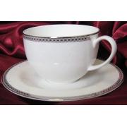 Набор 6 чайных пар 250 мл. «Серебрянная вышивка»