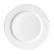 Тарелка мелкая «Марина Рэд», фарфор, D=23см, белый,коричнев.