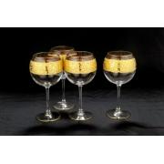 Бокалы для вина, стекло, 4 шт Flower Ball