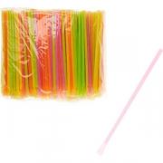 Трубочки-ложки [500шт] D=6, L=200мм; разноцветн.