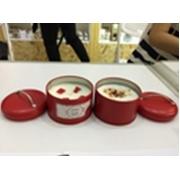 Свеча ароматическая в оловянном подсвечнике, Strawberry
