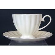 Н 1000000 Магнолия н-р чашек чайных высоких 220мл с блюдцем 6/12 (бел.)