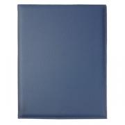 Папка-меню А4 2-х стор., кожезам., L=33,B=25см, синий