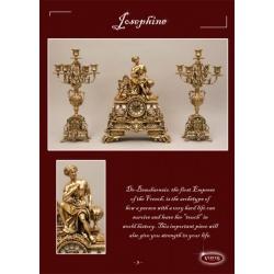 Пара канделябров «Жозефина» на 5 свечей золото 45х24 см.