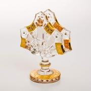 Салфетница «Снежинка с золотой росписью» 14 см