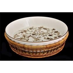 Блюдо круглое в корзине «Марроне» 28 см