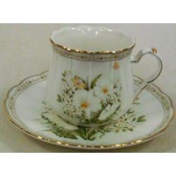 Чашка с блюдцем «Летний сад»