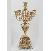 Пара канделябров на 5 свечей золотистый 45х19 см.