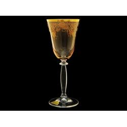 Бокал для вина Миранда Амбер с золотыми колокольчиками