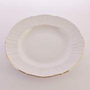 Блюдо круглое 32 см «Бернадот белый 311011» глубокое