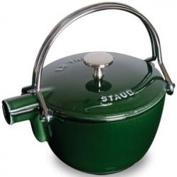 Чайник чугунный 1,15 л, цвет темно-зеленый