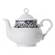 Чайник «Восток», фарфор, 750мл, синий