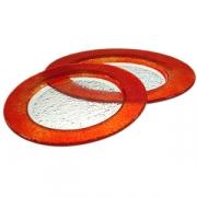 Тарелка мелк «Бэнд» d=26см красная