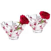 Набор из 2-х хрустальных салатников Красные розы, средних