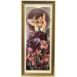 Картина «Аметист» 16х38 см, фарфор, серия Mucha