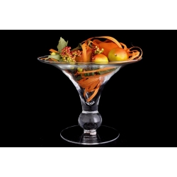 Декоративная ваза с искусственными фруктами 22х28 см.Стекло и хрусталь