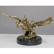 Двухглавый орел бол. на мраморе цвет - золото 41х24см