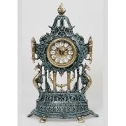Часы половинки с драконами цвет - синий 40х24см