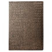 Папка-меню А4 на винтах «Крокодил», кожезам., L=32.5,B=24.5см, бронз.