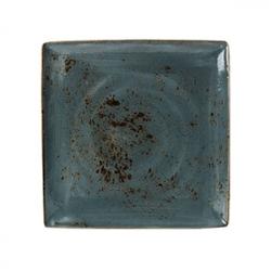 Блюдо квадратное «Крафт», фарфор, H=18,L=268,B=268мм, синий