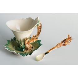 Чашка с блюдцем «Жираф» 100 мл