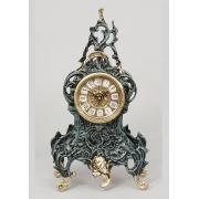 Часы с завитком синий 35х18 см.