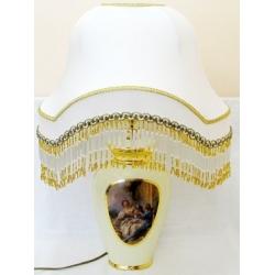 Маленькая овальная настольная лампа 34х28х51 см