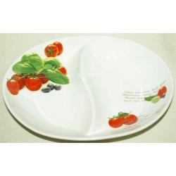 Блюдо овальное 2-х секционное «Помидоры» 30х22 см