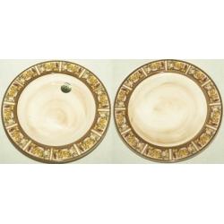 Набор тарелок «Лимоны» Суповая - 23,5 см; обеденная -25 см