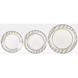 Набор тарелок «Серые полоски» на 6 персон 18 предметов