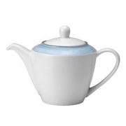 Чайник «Рио Блю»; фарфор; 310мл; белый,синий
