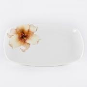 Блюдо прямоугольное 20,3см «Бежевая лилия»