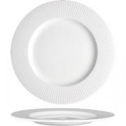 Тарелка мелкая «Уиллоу» D=28.5см; белый