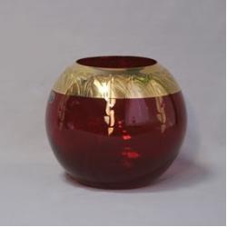 Ваза 20 см; панто золото «Nefertiti»; гранат