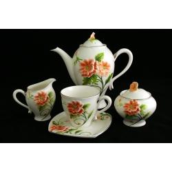Чайный сервиз из 15 предметов на 6 персон «Цветущий мак»