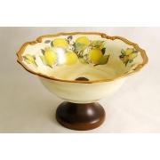 Ваза для фруктов на ножке «Итальянские лимоны»